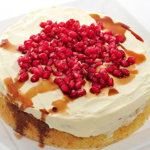 Recipe: Sour Cream Cake With Pomegranate Drizzle by Dewi Imelda Wadhwa. To celebrate Singapore's 48th birthday on Aug 9, The Straits Times asked 20 bakers and pastry chefs to create Singapore-inspired cakes with local ingredients. Go to http://www.straitstimes.com/STI/STIMEDIA/web/2013/ndcakes/index.html to see what they came up with.   #food #cakes