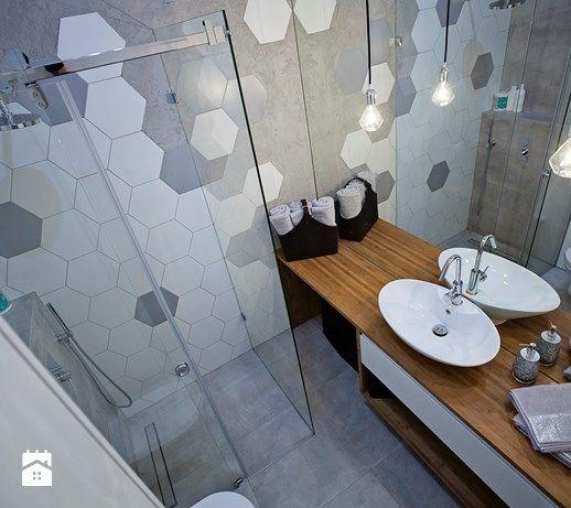 minimalistyczna, industrialna łazienka - zdjęcie od KRUBA DESIGN