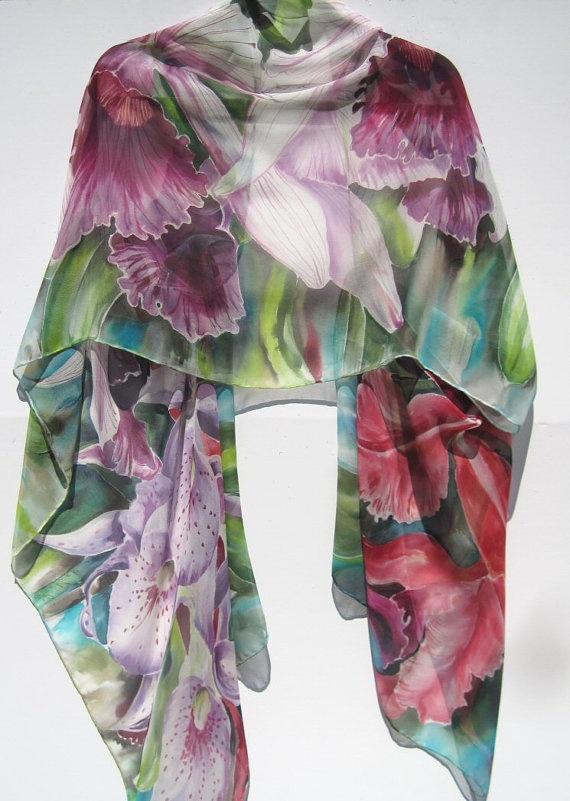 ORCHIDS Silk Wrap by SilkSiren on Etsy, $300.00