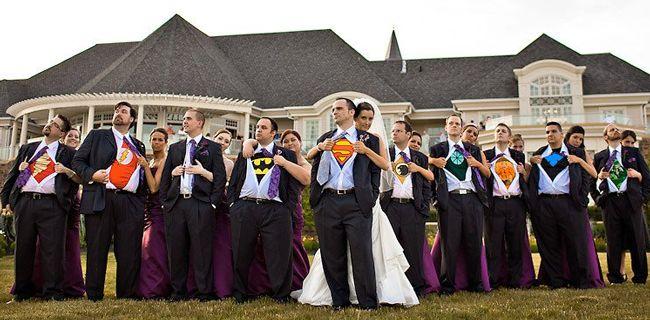 Fundstück aus dem Internet - Hochzeitsfoto #Superhelden