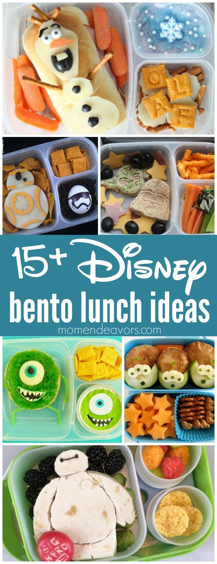 Disney Bento Lunch Ideas. Packed in @easylunchboxes