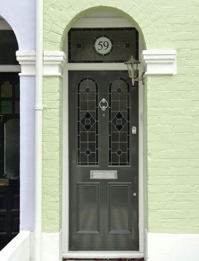 Grey slim Regency front door. londondoor.co.uk & 16 best Front door images on Pinterest | Front doors Co uk and ... pezcame.com