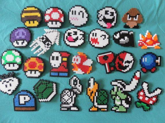 Imanes de Nintendo Super Mario Brothers perler cuentas malo enemigos lote