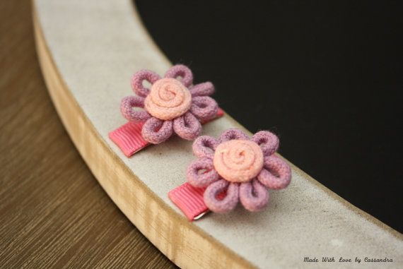 Pretty Petite Flower Hair Clips by MadeWithLoveByCas on Etsy, $4.50