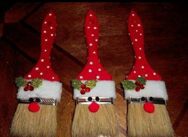 Santa paintbrush
