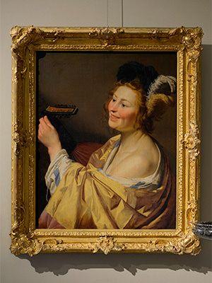 ヘラルト・ファン・ホントホルスト《陽気なリュート弾き》(1624年)