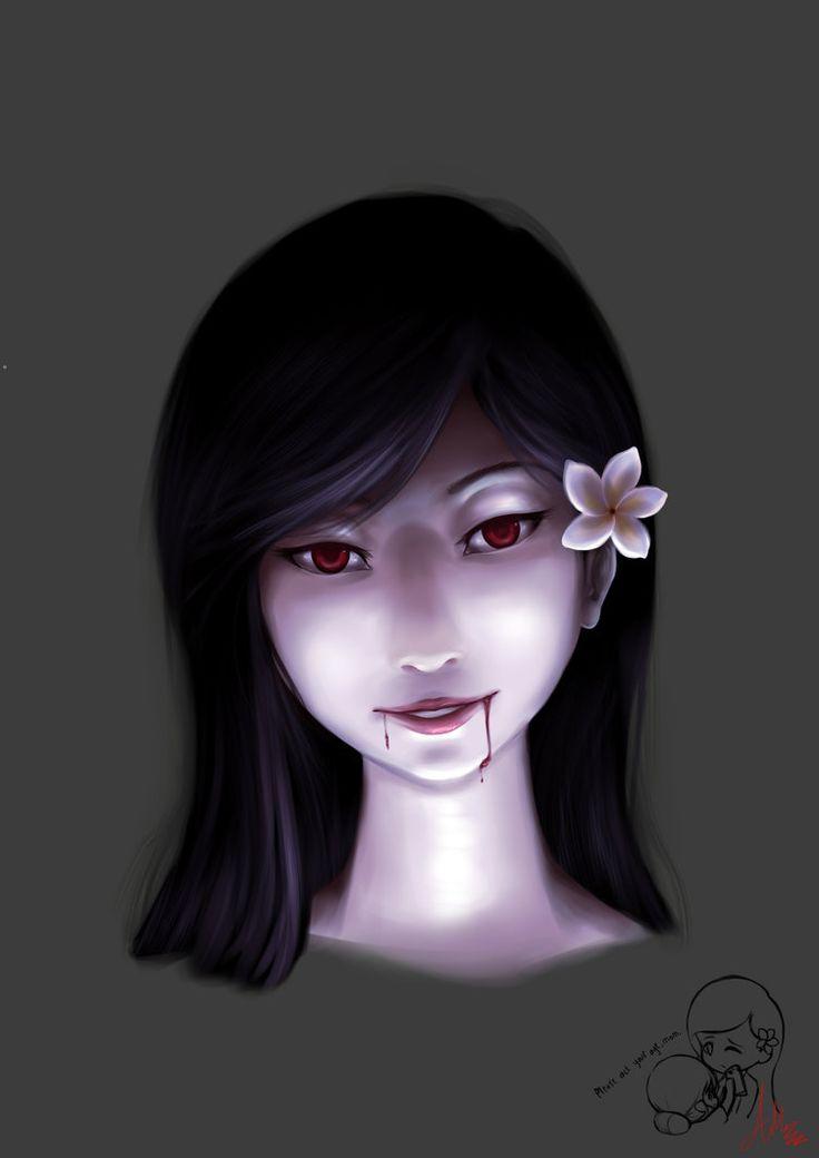 Kuntilanak/Pontianak face concept by Adeshark on DeviantArt