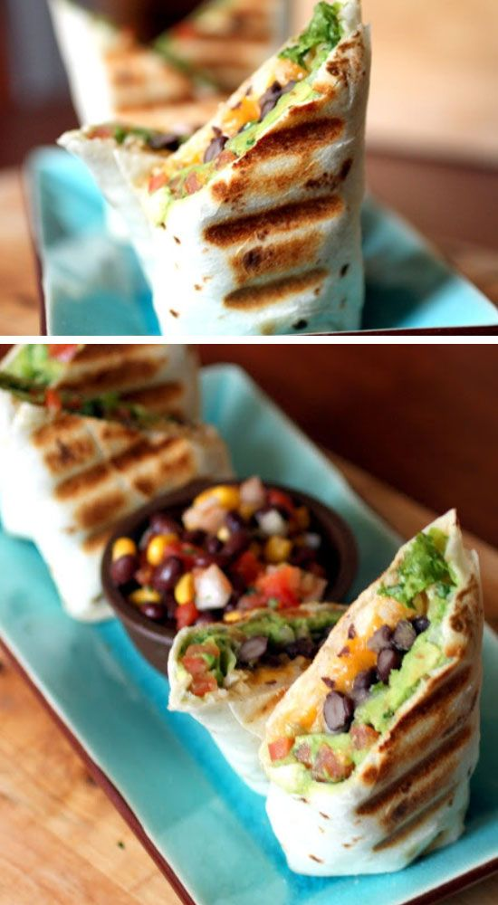 Gauc and Black Bean Burrito | Click Pic for 30 Easy Vegetarian Recipes for Kids for Dinner | Quick and Easy Healthy Meals on a Budget