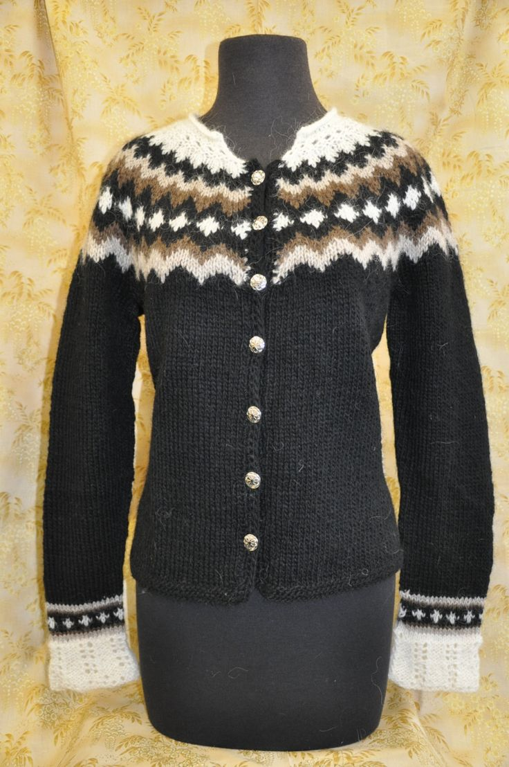 Handknit Icelandic sweater warm AND pretty. by SoleyDesign on Etsy, $180.00