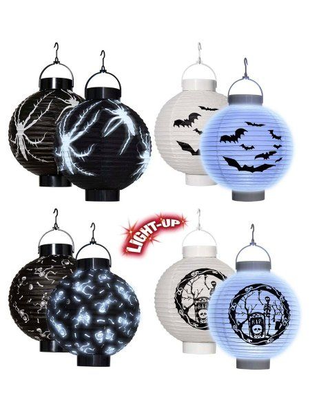 https://11ter11ter.de/19007664.html 20 cm LED Ballon Lampion mit  verschiedenen Motiven #Party #Gartenparty #Lampions #Ballons #Laternen #Papier #Licht #Farben #Deko #Dekoration #LED #Halloween #11ter11ter