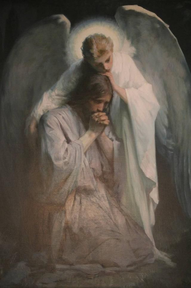 """Frans Schwartz's """"Agony in the Garden,"""" an oil on canvas painting. This image speaks to my heart."""