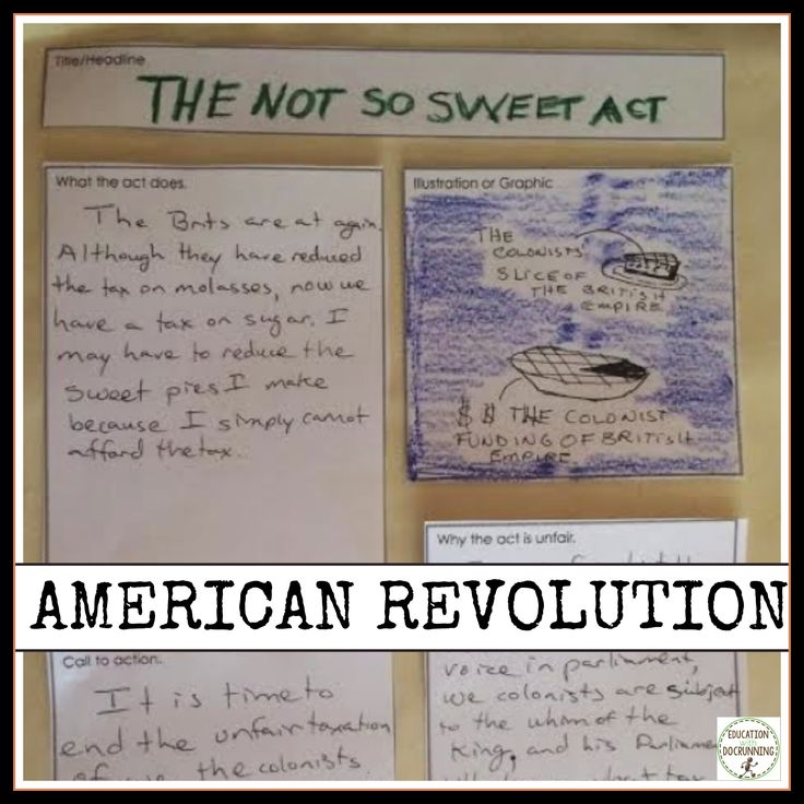 This is one of the station activities where a student took different aspects of the Sugar Act and made a protest pamphlet, just like they would have during the lead up to the American Revolution.  Engage students in the Acts of the American Revolution with station activities and lots of choice.