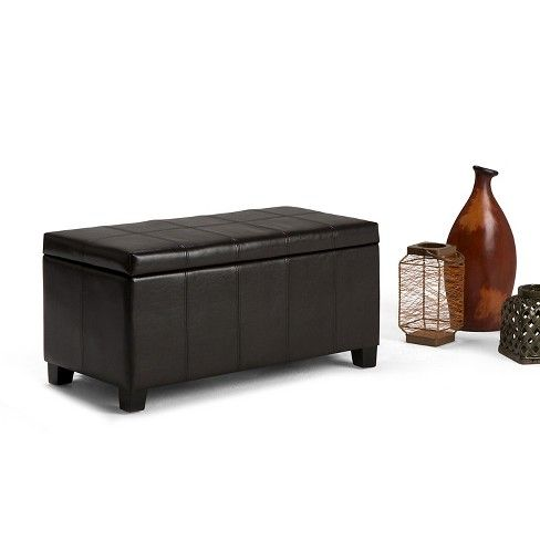 Simpli Home Dover Rectangular Storage Ottoman Bench Target