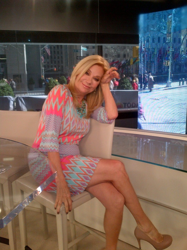 Kathie Lee looked fabulous in our Phoebe zig zag shift today on Kathie Lee and Hoda!