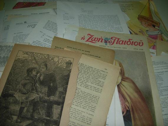 Original vIntage ephemera from past times and vintage by eltsamp, $70.00