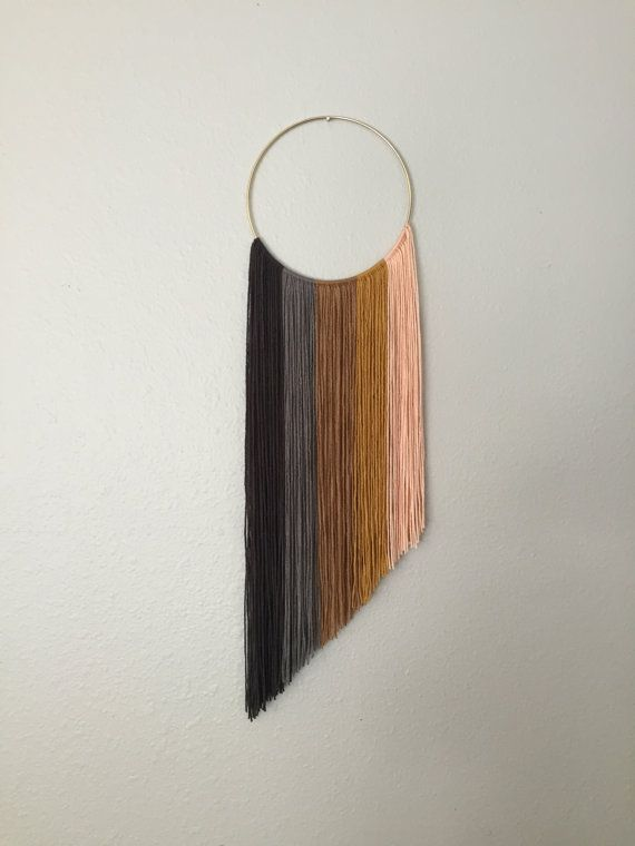 Handmade macrame ombre yarn art wall hanging by GrayceWeaver