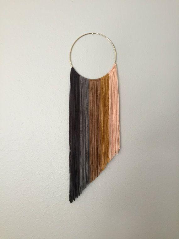 Handmade macrame ombre yarn art wall hanging by GrayceWeaver