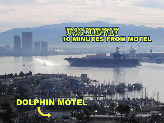 A San Diego motel, the Dolphin Motel is where cheap prices get quality clean San Diego motel rooms!