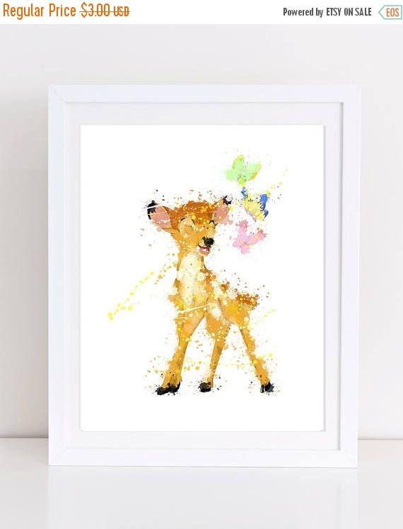 60%OFF disney watercolor bambi watercolor watercolor bambi