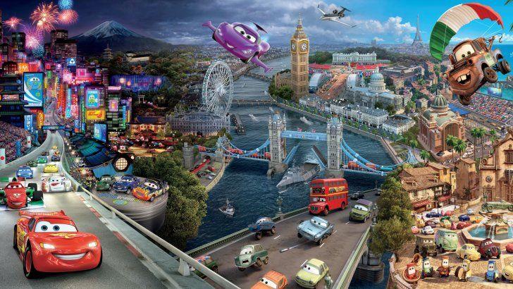 Cars 2 Alta Resolucion Murales De Disney Fotomural Papel Tapiz Disney