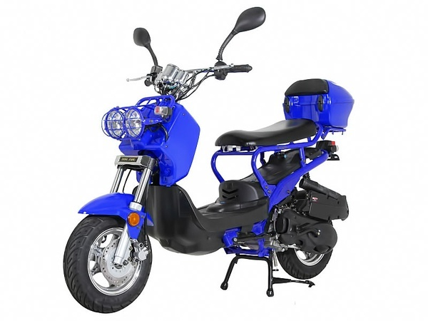NEW Sunny Powersports MC-D150L BLUE Gas Ruckus 150cc Moped Scooter w/ Trunk , $1399