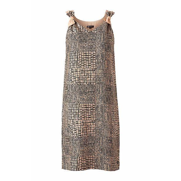 Didi jurk Materiaal: 100% linnen Kleur: Donkergroen/zalm Lengte (cm): 92 Kraagvorm: V-hals Mouwlengte: Mouwloos