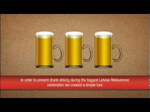Una campanya de trànsit per evitar la conducció sota efectes de l'alcohol.