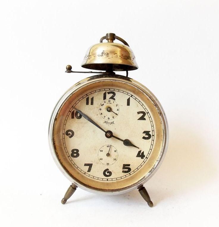 Antique KIENZLE 1930s Alarm clock Germany Vintage old desk ...