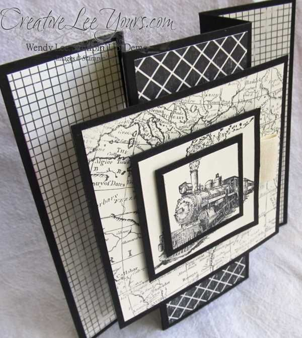 Standing traveler card, world map, masculine, SU cards, Aug 2014 FMN class, by Wendy Lee, #creativeleeyours, Stampin Up!,
