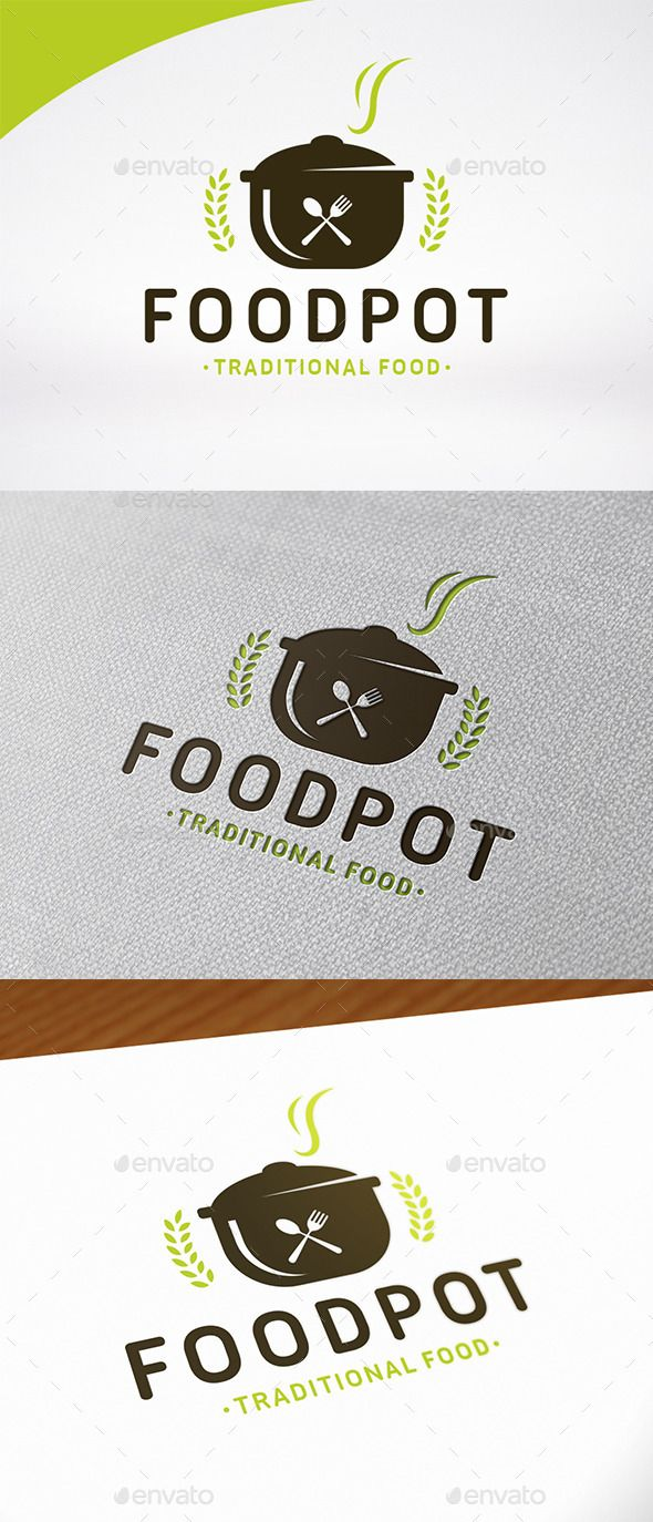 Food Pot Logo Template — Vector EPS #catering #cooking school • Available here → https://graphicriver.net/item/food-pot-logo-template/12649908?ref=pxcr