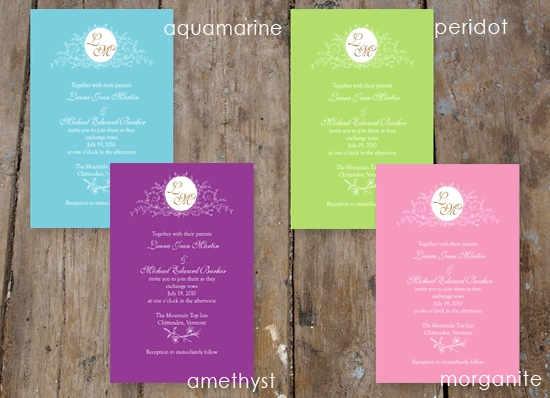 jewel tone wedding invitations - Google Search