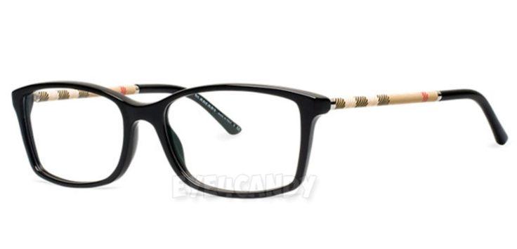 Burberry Ladies Eyeglass Frames : Burberry eyeglasses 2120 shiny black womens designer ...