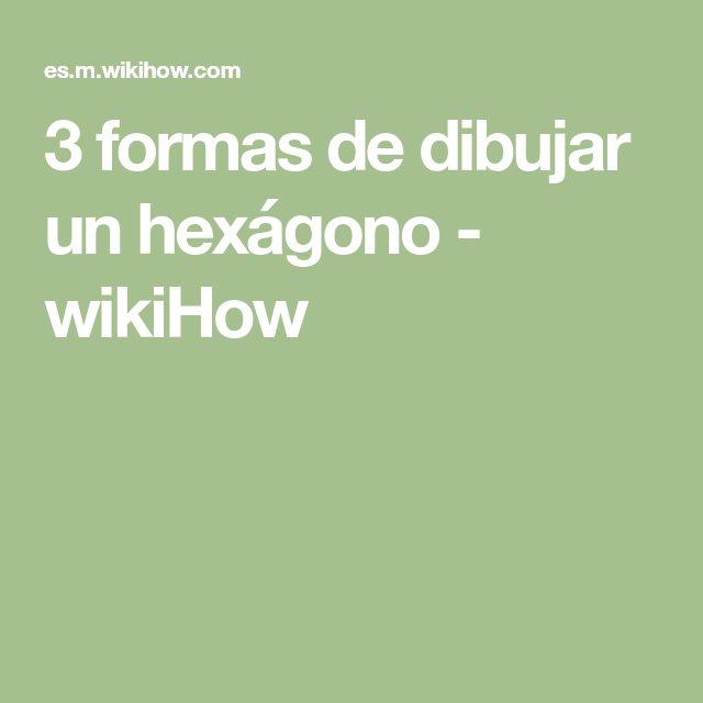 3 formas de dibujar un hexágono - wikiHow