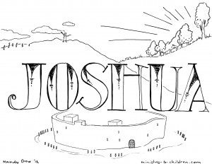 coloring pages of joshua kjv - photo#8