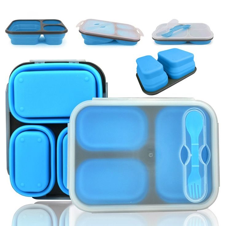 Draagbare lunch boxs Silicon Inklapbare magnetron Lunchbox bento lunch boxs vouwen lunchbox set voedsel container in Draagbare lunch boxs Silicon Inklapbare magnetron Lunchbox bento lunch boxs vouwen lunchbox set voedsel container van Servies Sets op AliExpress.com | Alibaba Groep
