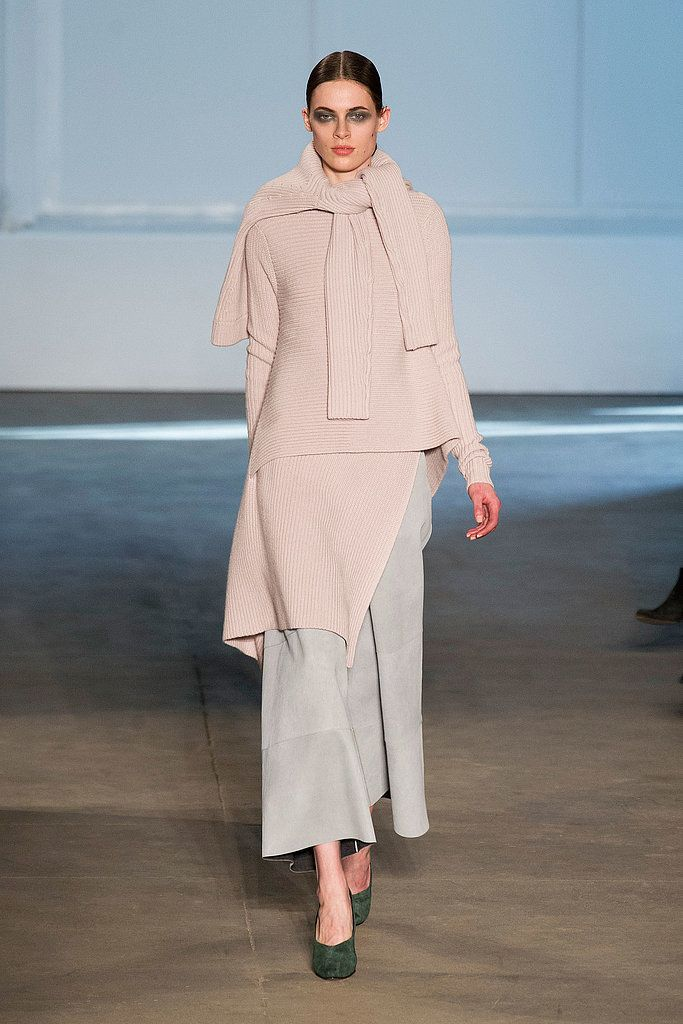 What season is it again? Derek Lam reminded us that pretty hues know no season with lovely pastel looks.