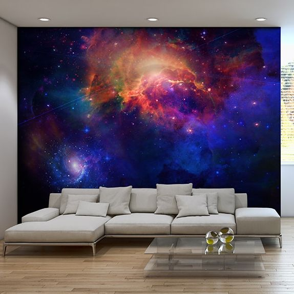 Galaxy wallpaper for a bedroom or living room!