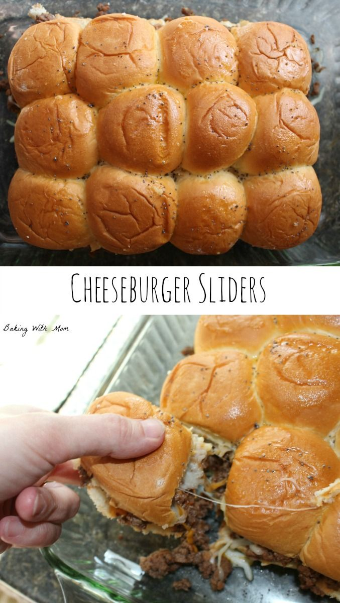 Cheeseburger Sliders with Hawaiian Sweet Rolls, hamburger and cheese. Made in minutes and perfect for guests and family