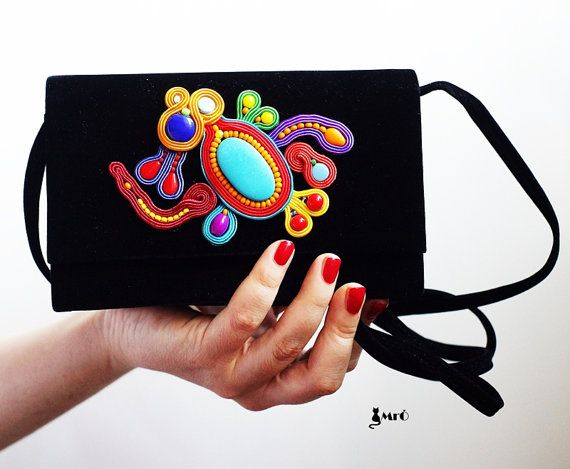 Small+black+bag+with+motif+soutache++by+MrOsOutache+on+Etsy,+$99.00