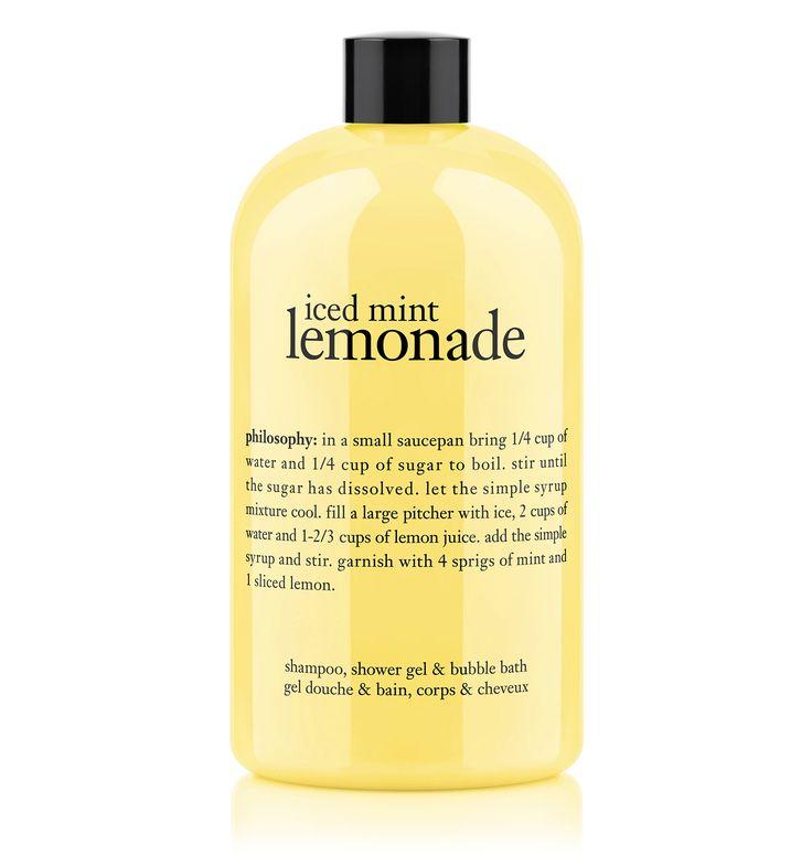 iced mint lemonade | shower gel | philosophy