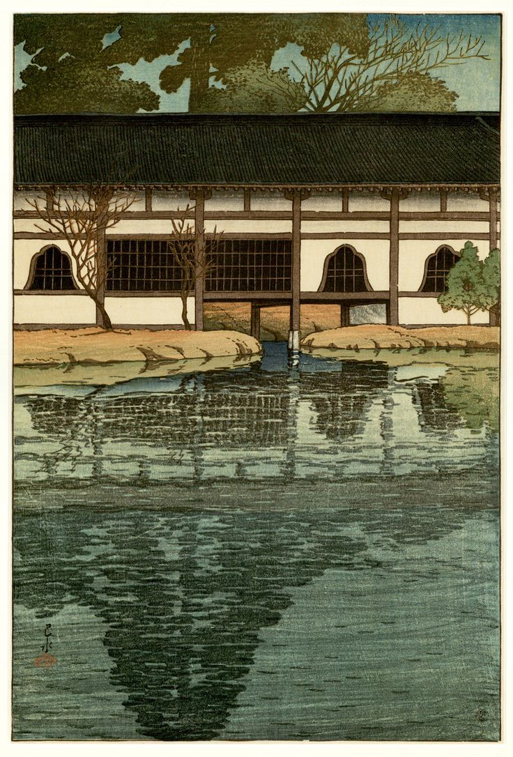 Color art printing anchorage -  Part Of The By D In Temple At Uji By Hasui Kawase
