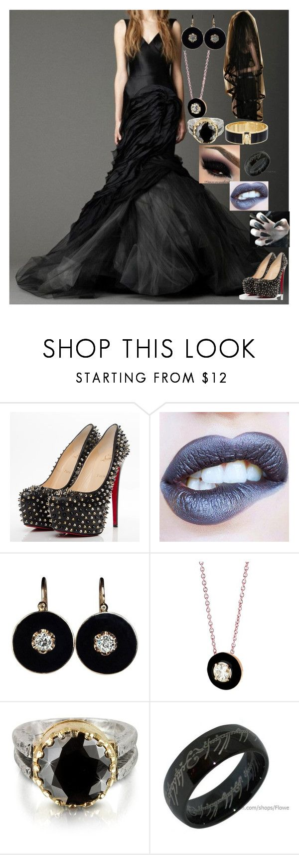 """""""Daisy 2"""" by arya-lynn ❤ liked on Polyvore featuring Vera Wang, Christian Louboutin, Selim Mouzannar, Tryò and Alexander McQueen"""