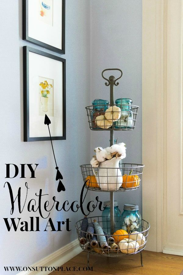 DIY Fall Watercolor Printables | An Easy Project from On Sutton Place