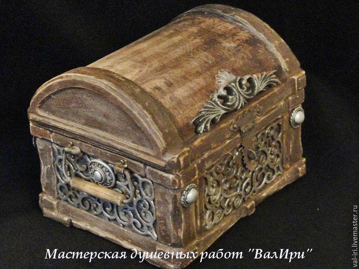 """Купить Шкатулка """"Маленький и хорошенький сундучок"""" - коричневый, шкатулка деревянная, шкатулка для мелочей, уютный дом"""