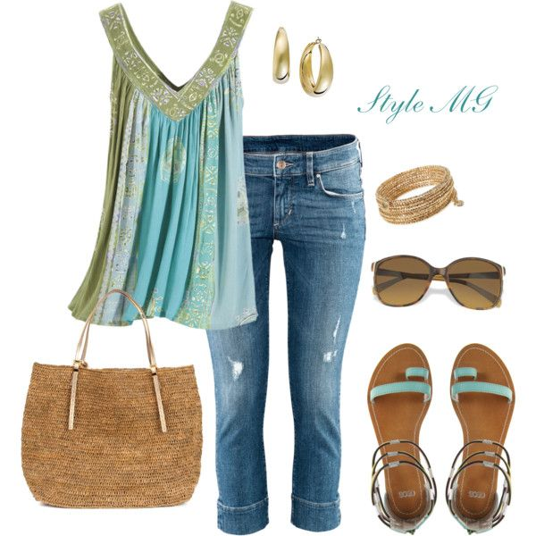 Yummy summer look: Fashion, Style, Clothing, Clothes, Outfit, Polyvore, Closet, Wear, Blues