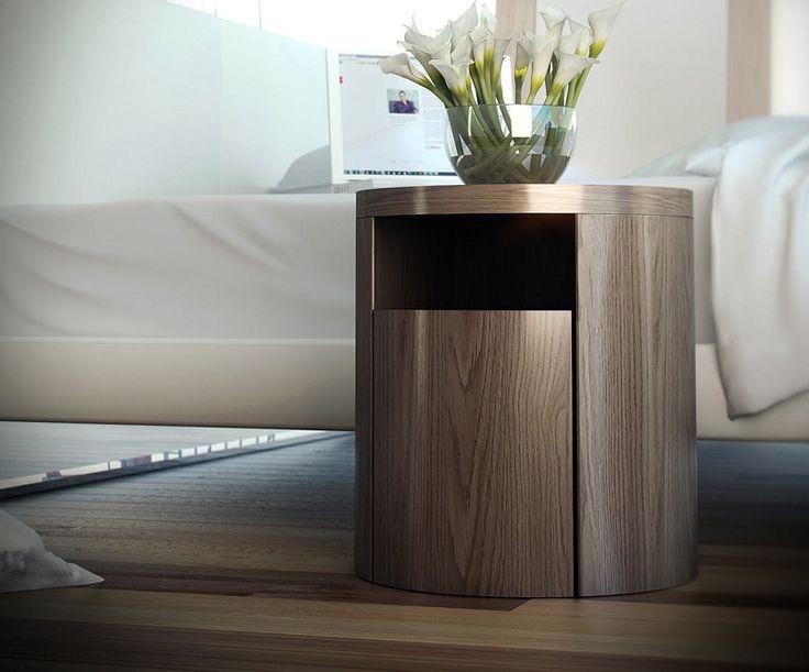 Mulberry round nightstand pure modern $387