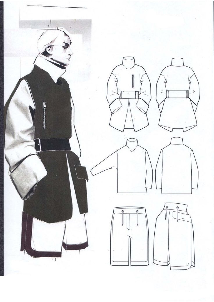 Fashion Sketchbook - fashion illustration & fashion design flats; fashion portfolio layout // Andrew Voss