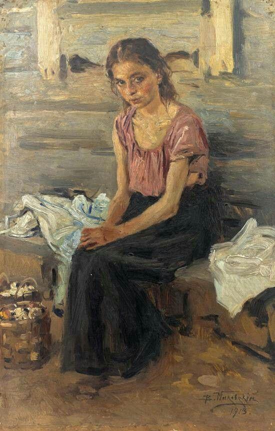 Vladimir Makovsky  Девочка-сиротка