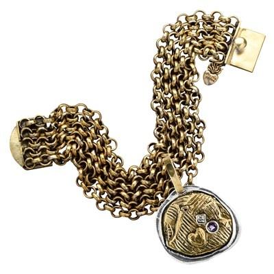 Waxing Poetic Bracelet Multi-Strand Brass Rolo