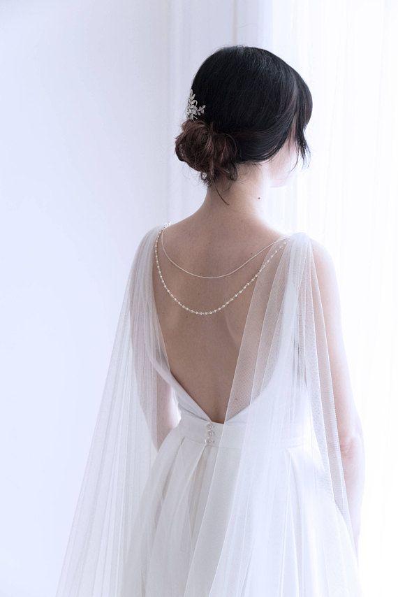Wedding cape Bridal cape veil Shoulder veil Bridal cape